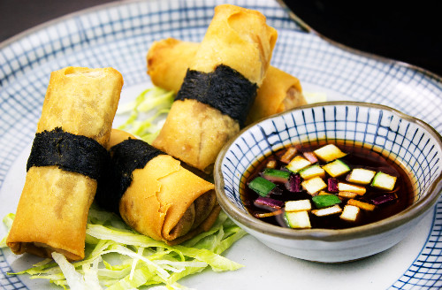 Veggie spring rolls delivered to Fortis Green